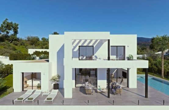 Superbe villa, 3 chambres, 4 salles de bain, parking, piscine, jardin, à Benitatxell, Espagne